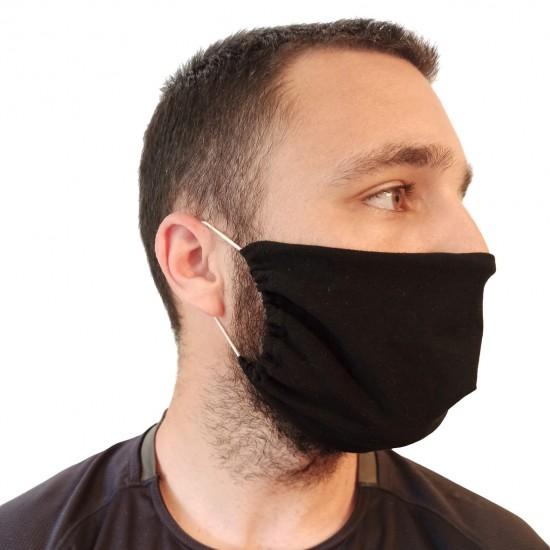 Μάσκα βαμβακερή μαύρη