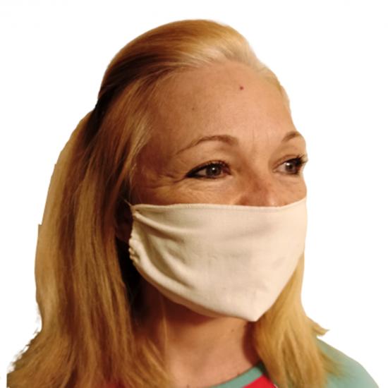 Μάσκα βαμβακερή άσπρη