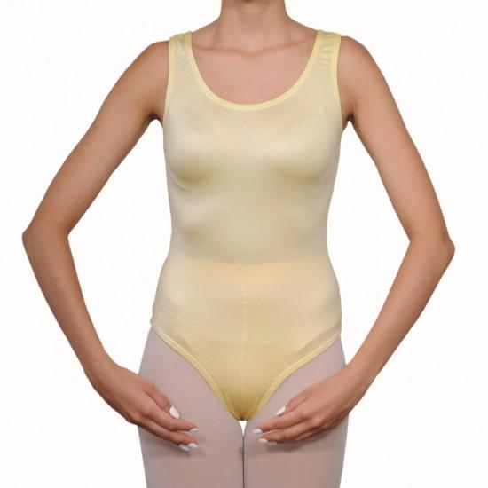Κορμάκι μπαλέτου γυναικείο με τιράντα κίτρινο