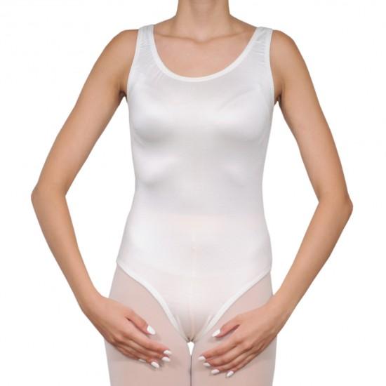 Κορμάκι μπαλέτου γυναικείο με τιράντα άσπρο